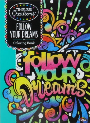 Timeless Follow Your Dreams Coloring Book Perspective: front