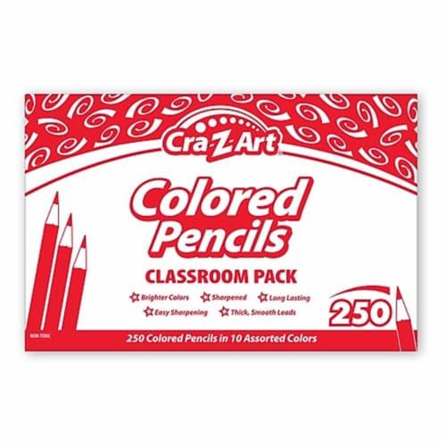 Cra-Z-Art Colored Pencils Classroom Pack - Multi Lead - Wood Barrel - 250 / Box Perspective: front