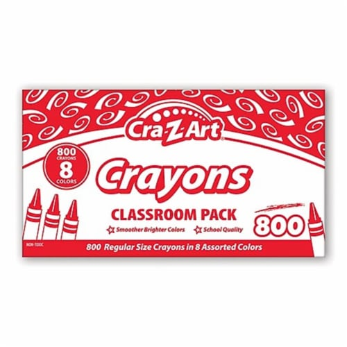 Cra-Z-Art Crayons, 8 Assorted Colors, 800/Pack 740031 Perspective: front