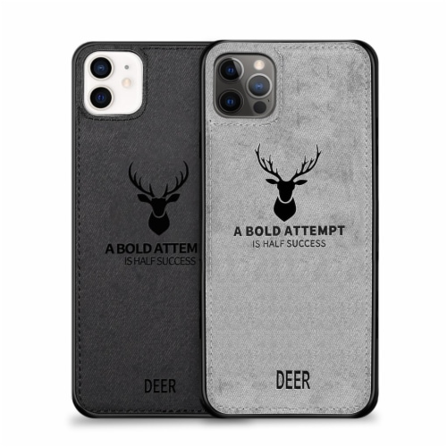 Luxury Soft Texture -Cloth Protective Case-iPhone 12/12Pro, Dirt-Resistant, Anti-Shock Perspective: front