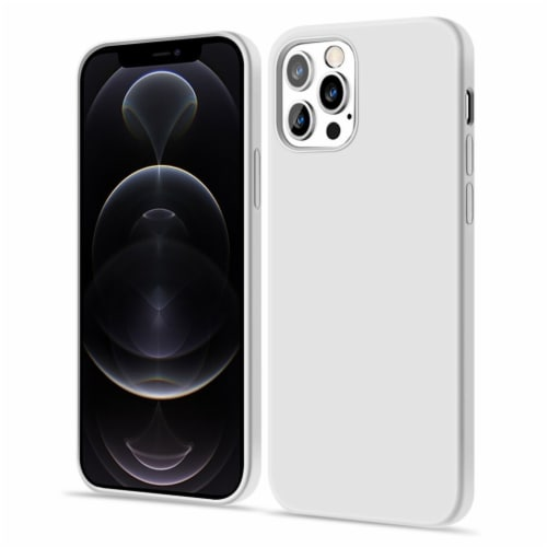 Silicon Case-iPhone 12/12Pro, Shock Absorb Bumper, Shockproof, Screen & Camera Protection Perspective: front