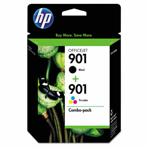 HP 901 Combo Ink Cartridges - Black/Tri-Color Perspective: front
