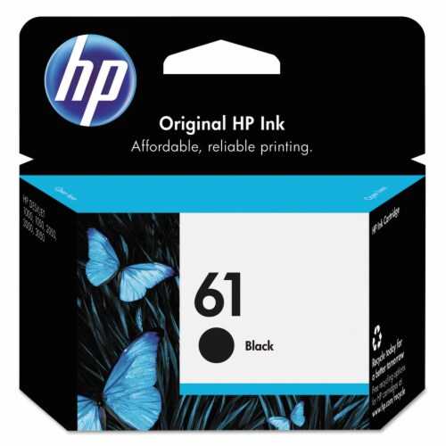 HP 61 Ink Cartridge - Black Perspective: front