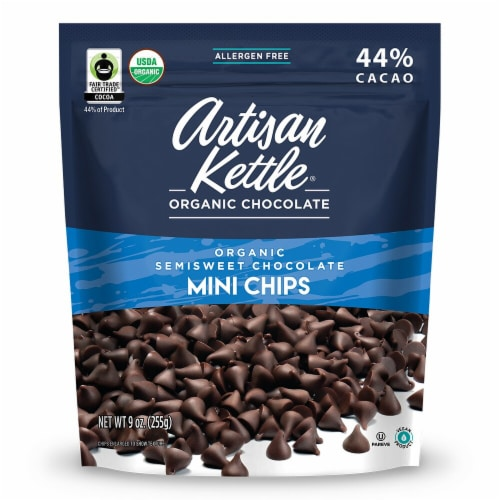Artisan Kettle  Organic SemiSweet Chocolate Mini Chips Perspective: front