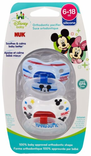 NUK  Disney Baby Minnie Mouse Pacifiers 6-18 Months 2-Pack Perspective: front