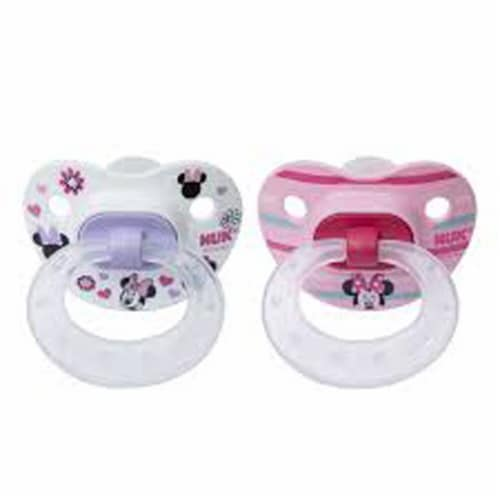NUK Disney Baby Minnie Mouse 6-18 Months Pacifiers Perspective: front