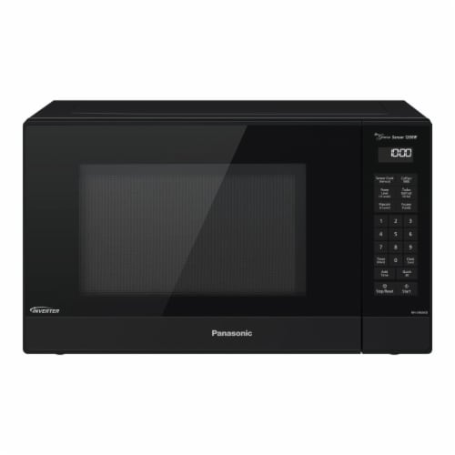 Panasonic NN-SN66KB 1.2 cu. ft. Microwave Oven with Cyclonic Wave Inventer, Black Perspective: front