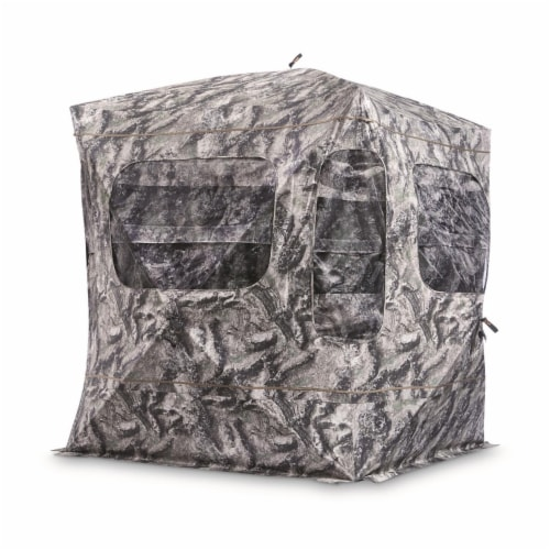 Guide Gear GGFGB-MOETC Field General Ground Hunting Blind, Mossy Oak Camouflage Perspective: front