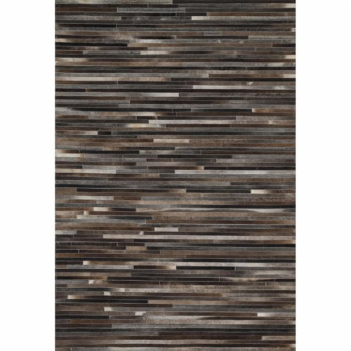 Loloi Rugs PROMPO-03CC00160S 1 ft. 6 in. x 1 ft. 6 in. Contemporary Promenade Rug - Charcoal Perspective: front