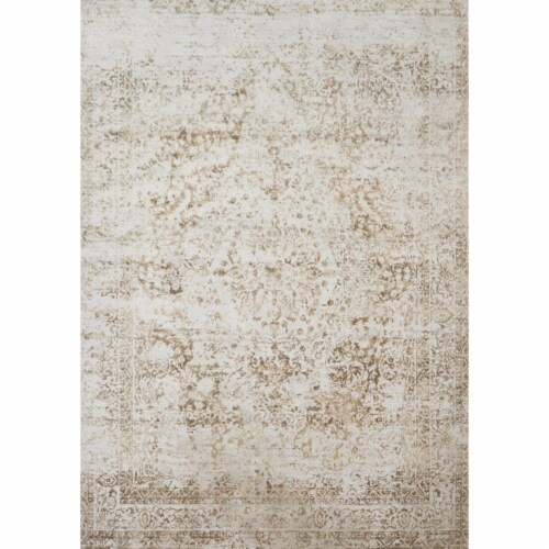 Loloi Rugs PATIPJ-03CHLC6792 Patina Collection Indoor Area Rugs, Champagne & Light Grey - 6 f Perspective: front