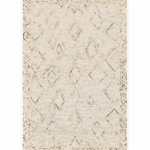Loloi Rugs LEELLEE-03IVLJ3656 3 ft. 6 in. x 5 ft. 6 in. Leela Ivory & Lagoon Contemporary Han Perspective: front