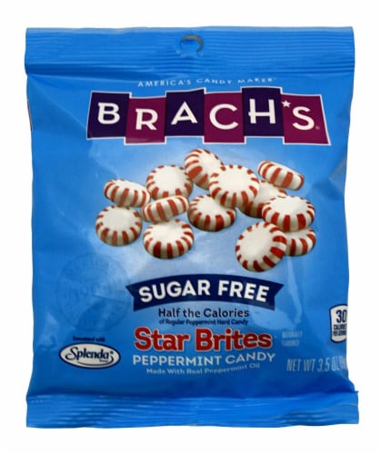 Brach's Sugar Free Star Brites Peppermints, 3.5-Ounce Bags (Pack of 4) Perspective: front