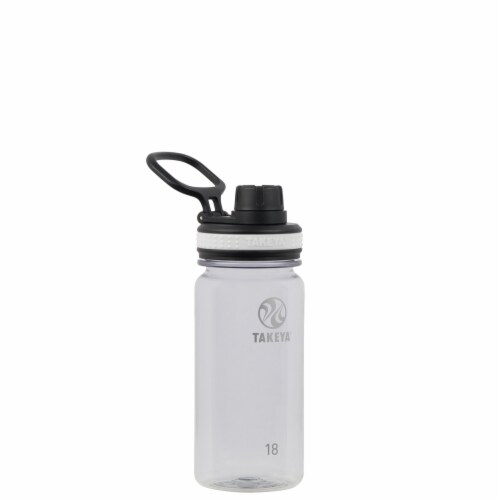 Takeya Clear Tritan Bottle with Spout Lid Perspective: front