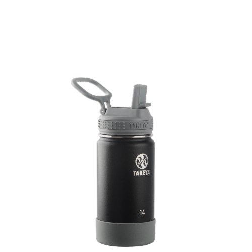 Takeya Active Kids Bottle with Straw - Blackberry Perspective: front
