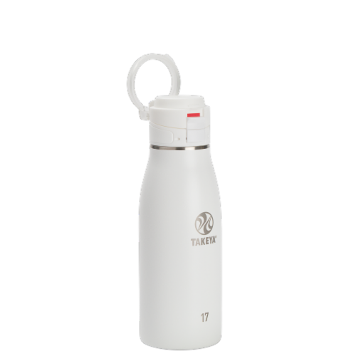 Takeya Insulated Flip Cap Stainless Steel Bottle - Arctic Perspective: front