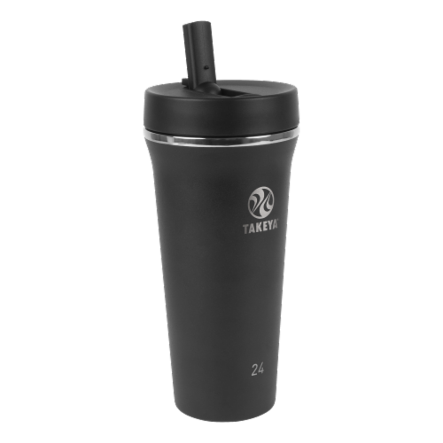 Takeya Tumbler Insulated Straw Bottle - Onyx Perspective: front