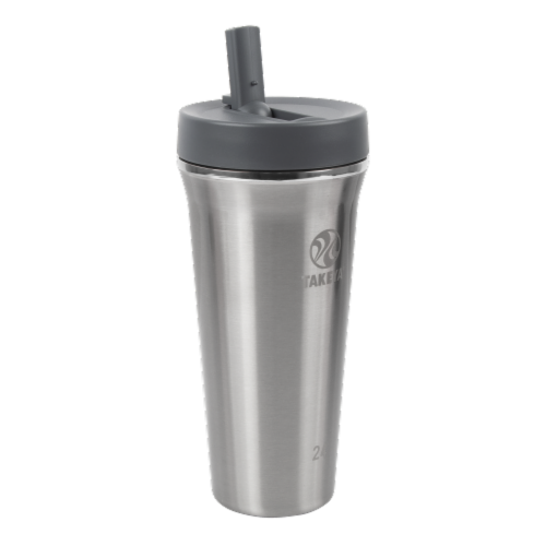 Takeya Tumbler Stainless Steel Bottle with Straw Perspective: front