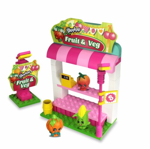 Shopkins Kinstructions Fruit & Veggie Stand (101 Pieces) Perspective: front