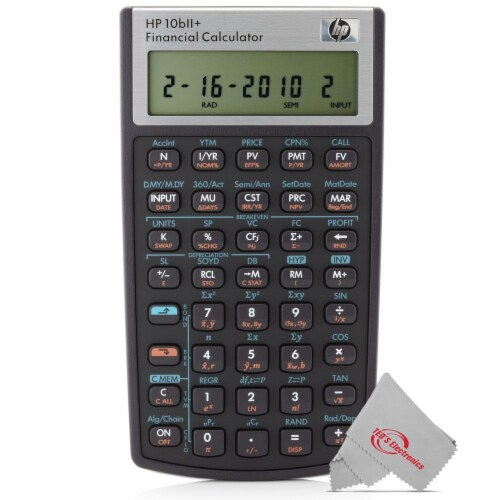 Hp 10bii+ Financial Calculator Perspective: front