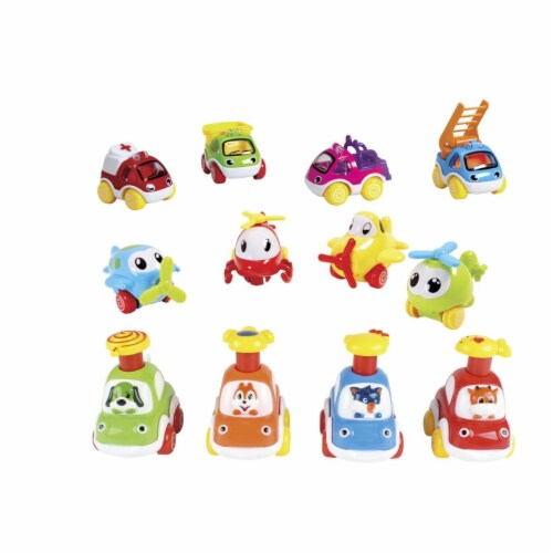 Childcraft 2023495 Pull Back Vehicles - Set of 12 Perspective: front