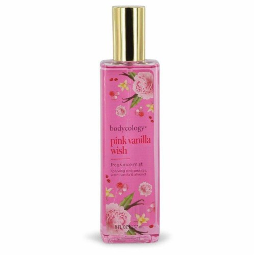 Bodycology Pink Vanilla Wish by Bodycology Fragrance Mist Spray 8 oz Perspective: front