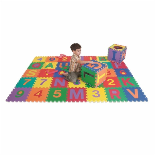 Edushape Edu Tile Numbers And Letters - 36 Piece Set Perspective: front