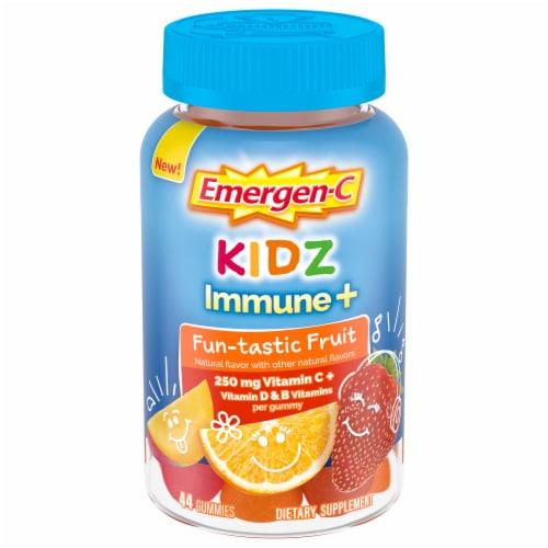 Emergen-C Kidz Fruit Fiesta Daily Immune Support 250mg Gummies Perspective: front