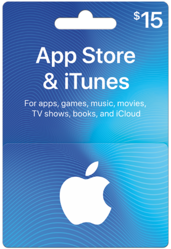 App Store & iTunes $15 Card Perspective: front
