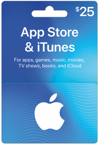 App Store & iTunes $25 Card Perspective: front