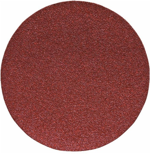 Porter Cable No Holes Hook and Loop 120-Grit Sandpaper Disc Perspective: front