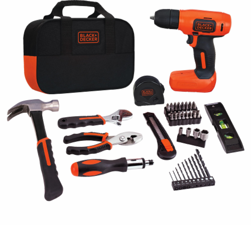 BLACK + DECKER MAX 8-Volt Cordless Lithium Drill Project Kit Perspective: front