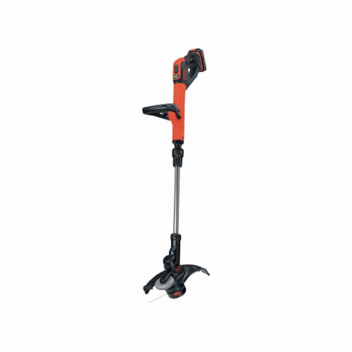 BLACK + DECKER 7629801 12 in. Battery Powered Straight Shaft Cordless Trimmer & Edger Perspective: front