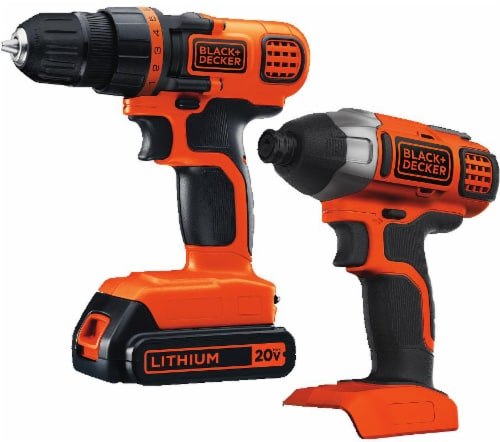BLACK + DECKER 20-Volt MAX Lithium Ion Drill/Driver and Impact Combo Kit - 4 Piece Perspective: front