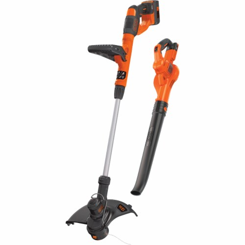 BLACK + DECKER Max 40V String Trimmer & Sweeper Combo Kit LCC340C Perspective: front