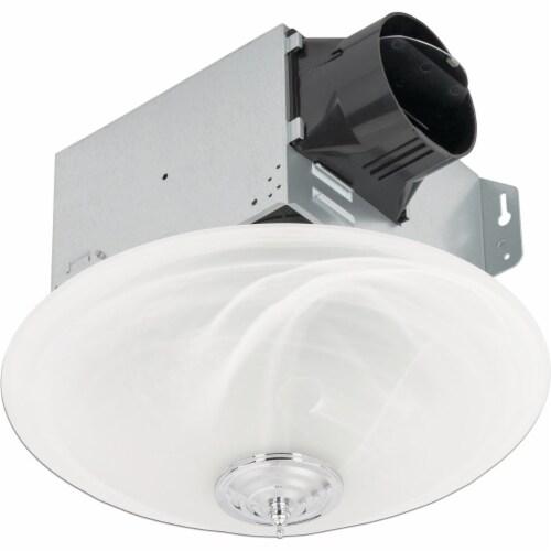 Delta BreezGreenBuilder 100 CFM 1.5 Sones 120V Bath Exhaust Fan with LED Light Perspective: front