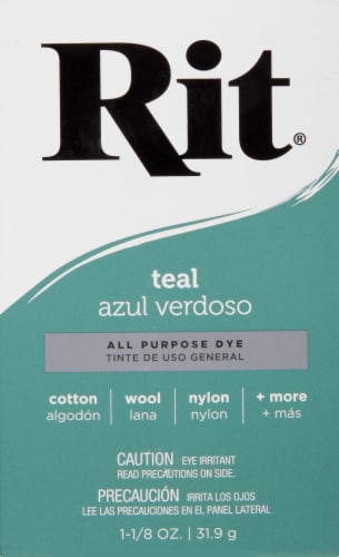 Rit® All-Purpose Teal Powder Dye Perspective: front