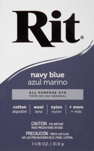 Rit® All-Purpose Powder Dye - Navy Blue Perspective: front