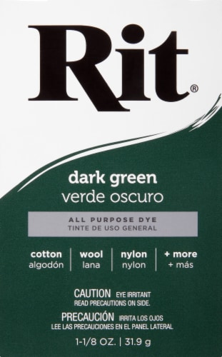 Rit All-Purpose Powder Dye - Dark Green Perspective: front