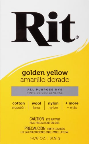 Rit All-Purpose Powder Dye - Golden Yellow Perspective: front