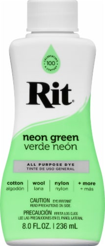 Rit Neon Green All Purpose Liquid Dye Perspective: front