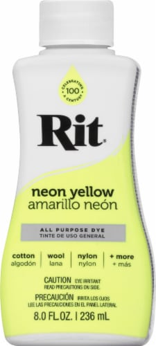 Rit All Purpose Liquid Dye - Neon Yellow Perspective: front