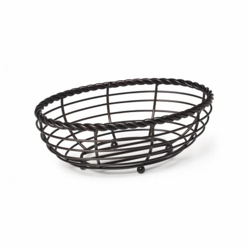 Mikasa Gourmet Basics Rope Oval Bread Basket Perspective: front