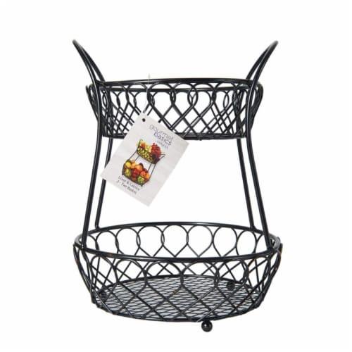 Mikasa Gourmet Basics Lattice 2-Tier Basket Perspective: front