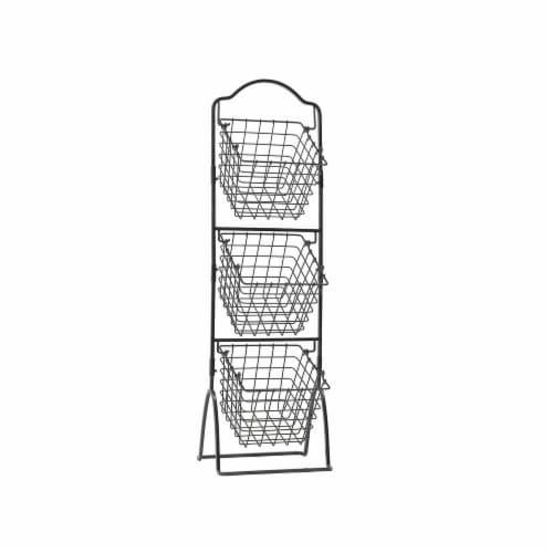 Mikasa Gourmet Basics 3 Tier Market Basket Perspective: front