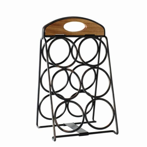 Mikasa Gourmet Basics Foldable 6-Bottle Wine Rack Perspective: front