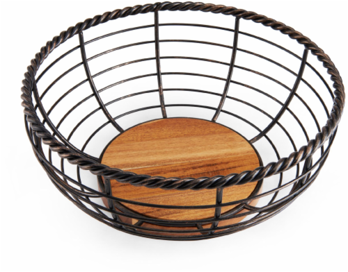 Mikasa Gourmet Basics Rope Round Fruit Basket Perspective: front