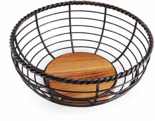 Mikasa Gourmet Basics Rope Round Fruit Basket Perspective: front