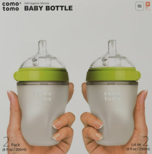 Comotomo  Baby Bottles Twin Set - Green Perspective: front