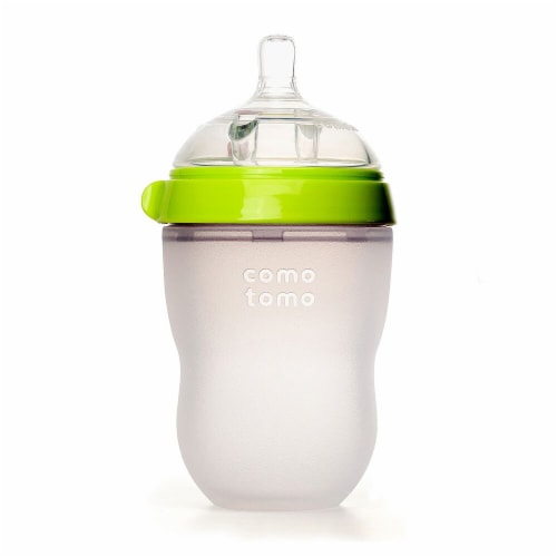 Como Tomo Baby Bottle - Green Perspective: front