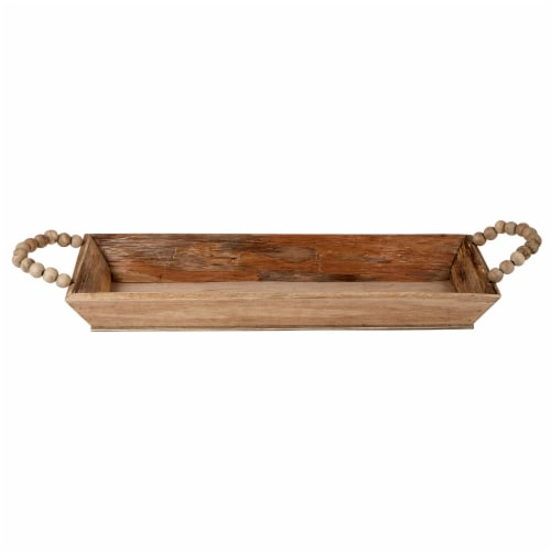Small Wooden Tray Perspective: front